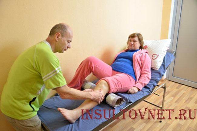 Восстановление движений парализованной ноги
