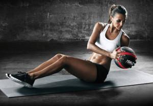 Упражнение с медболом