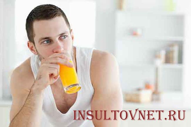 Апельсиновый сок при похмелье