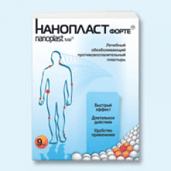 Противовоспалительный пластырь Нанопласт