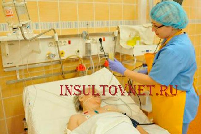 Кормление больного инсультом