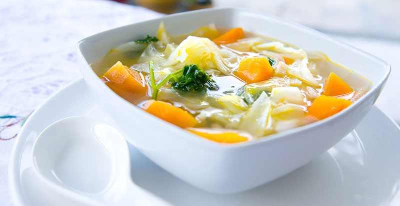 Овощной суп для овощной диеты