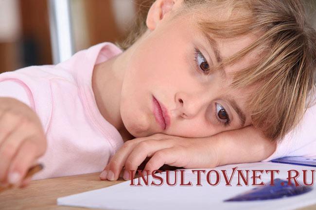 Симптомы стресса у ребенка