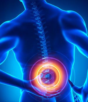 Основной симптом перелома - боль в позвоночной области