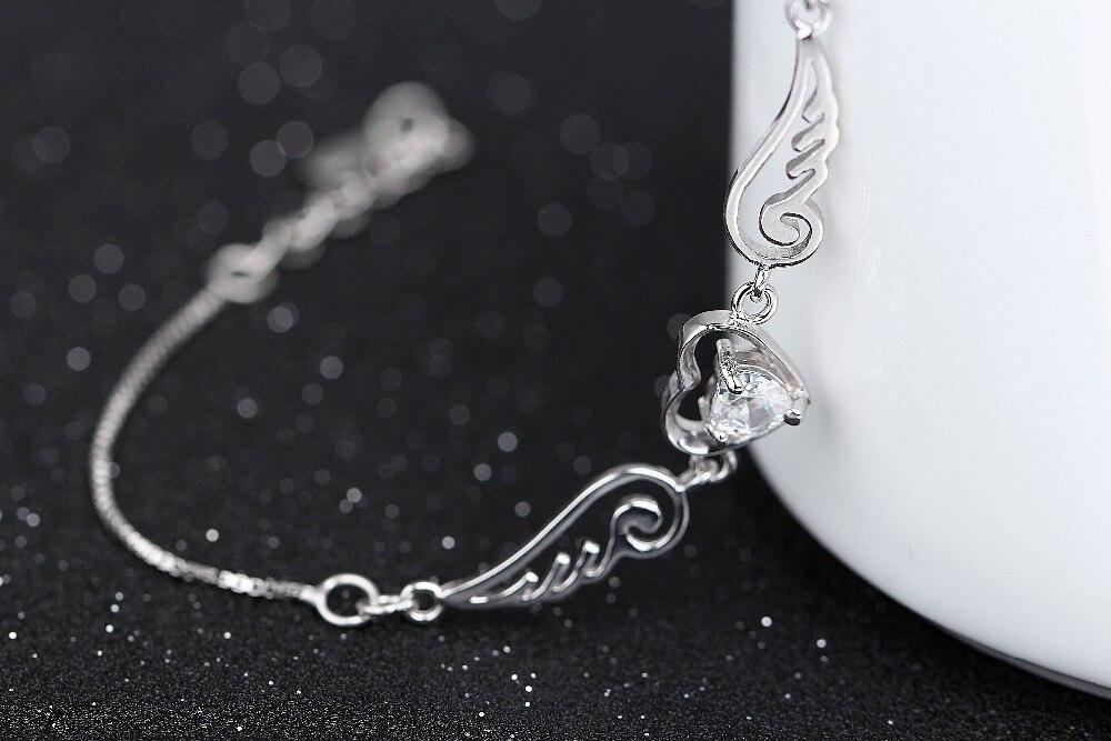 серебряный браслет с бриллиантом