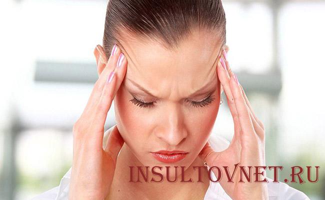 Проявление мигрени