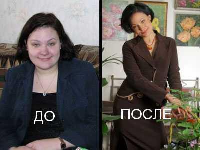 Екатерина Мириманова до и после похудения