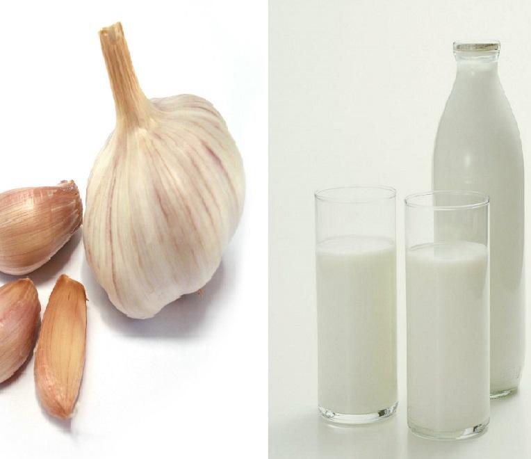 Молоко с чесноком - средство от глистов