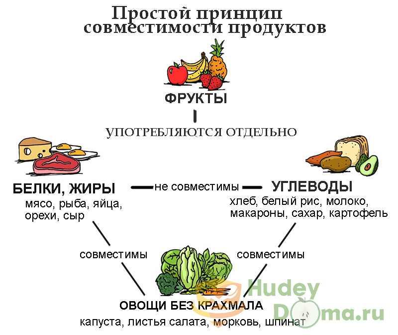 Совместимость и несовместимость продуктов питания