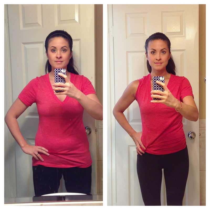 На фото: до и после магической диеты