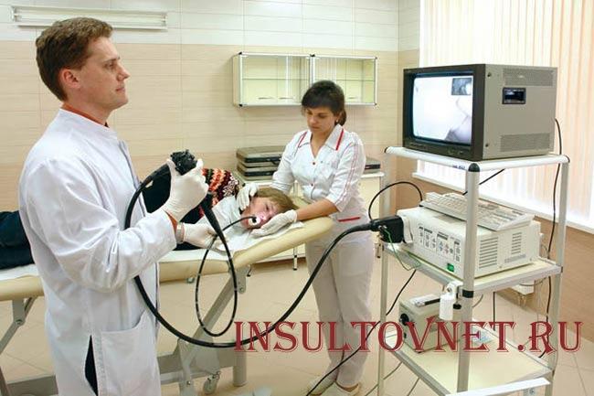 Процедура эндоскопии желудка