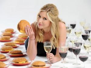 Вредная пища и алкоголь