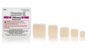 Трансдермальный опиоидный пластырь Онсолиз