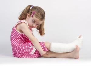 Повреждение кости у ребенка